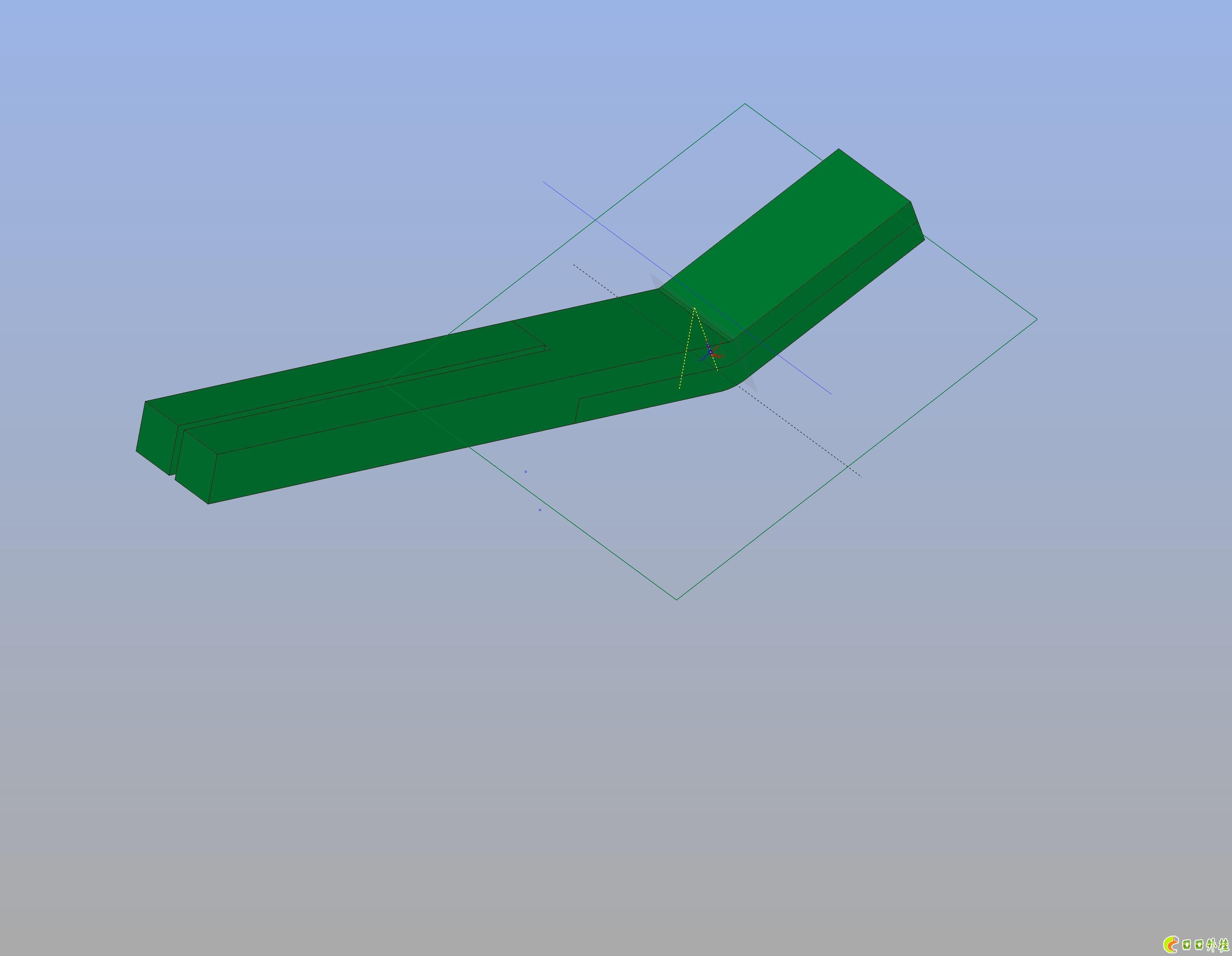 折弯的部位