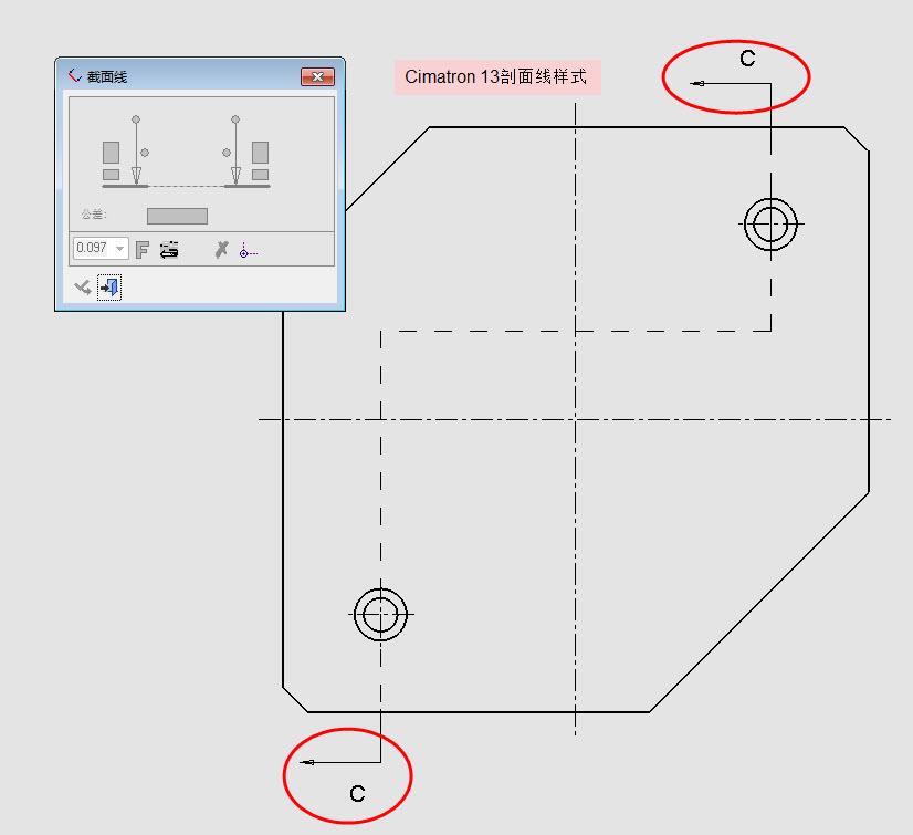 E13工程图剖面线样式