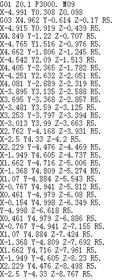 螺旋铣用R或者IJ描述的代码